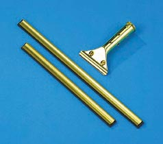 Golden Clip® Window Squeegee Handle; Brass Channel