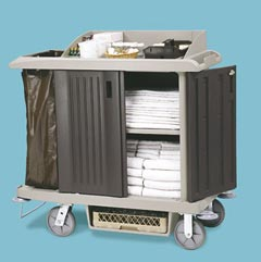 Compact Size Housekeeping Cart with Doors