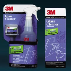 3M™ Dose 'n Fill Cleaning System Glass Cleaner Starter Kit and Refill Cartridge